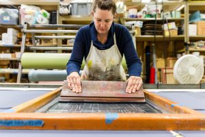 Rebecca Pearcy screen printing | PDX Local