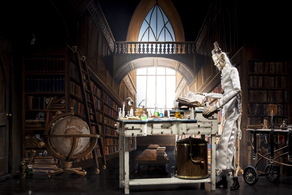 Dr. Hadrian in his Library. (Photo: David Emmite) - PDX Local